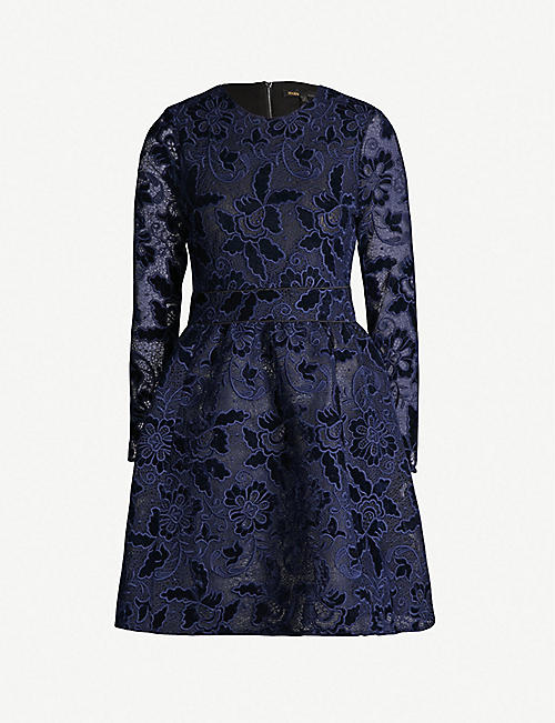 8db2ec36f8 MAJE Fit-and-flare guipure-lace dress