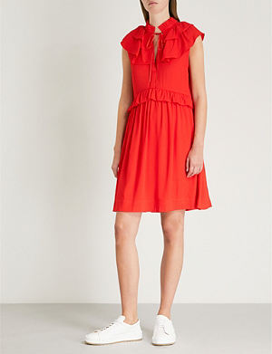 39f2a90cb772 MAJE Rutta ruffle-trim crepe dress