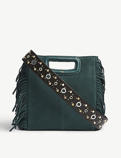MAJE Sacha studded leather bag strap