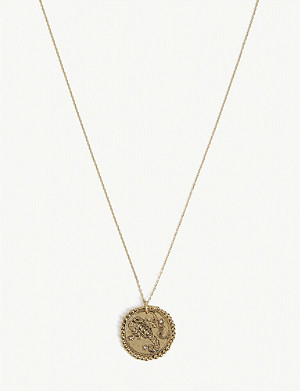 MAJE Scorpio zodiac brass coin necklace