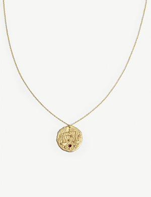 MAJE Libra zodiac brass coin necklace