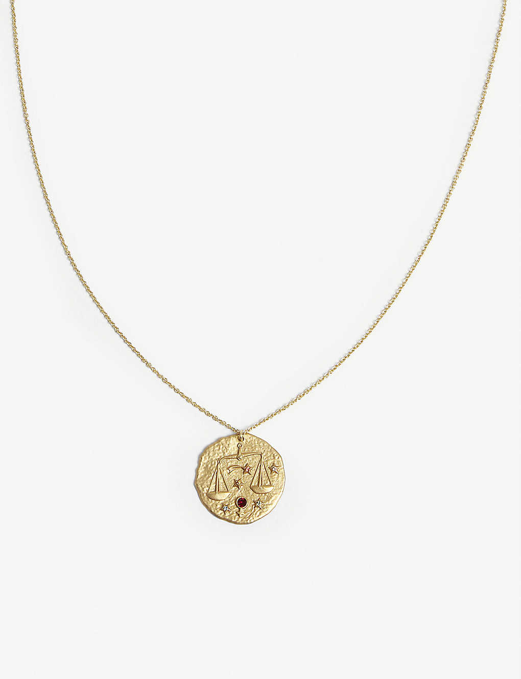 MAJE: Libra zodiac brass coin necklace