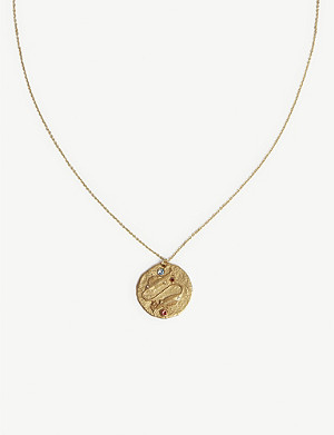 MAJE Gemini zodiac coin necklace