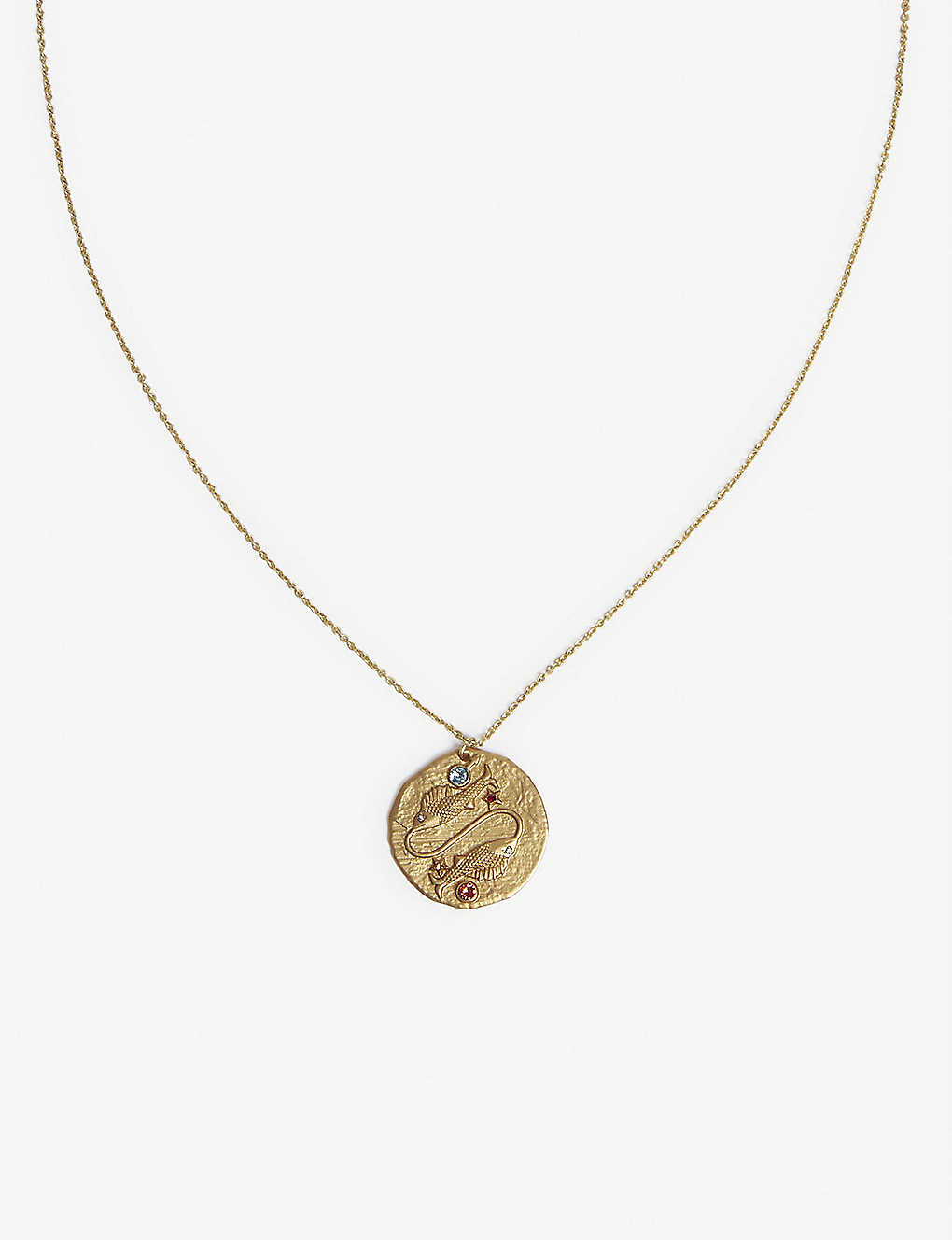 MAJE: Gemini zodiac coin necklace