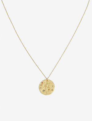 MAJE Virgo zodiac brass coin necklace