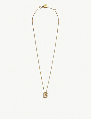 MAJE B initial necklace