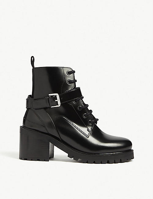 MAJE Frank leather boots