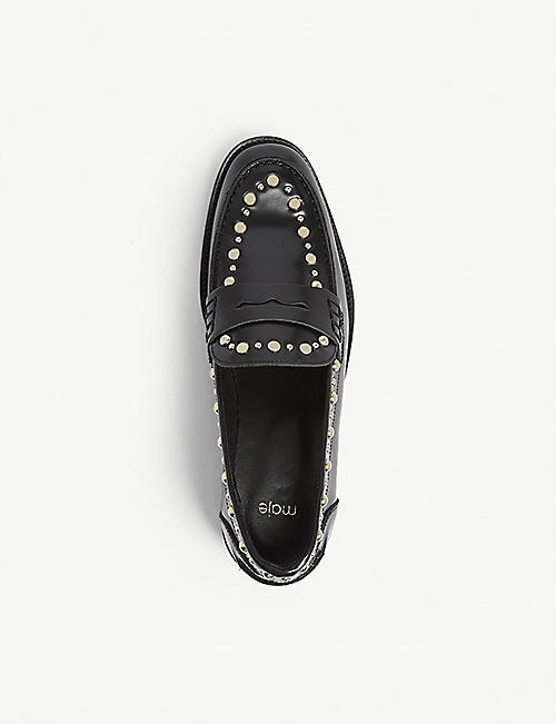 MAJE Freddy studded leather loafers