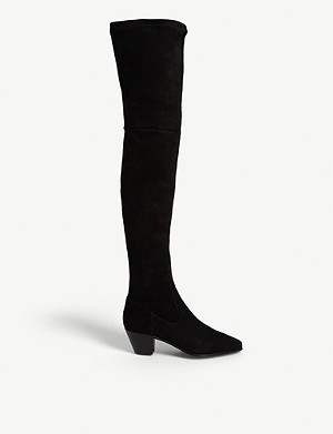 MAJE Flikuio elasticated leather thigh boots