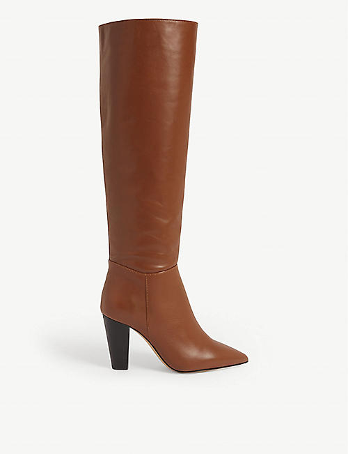 MAJE Knee-high leather boots