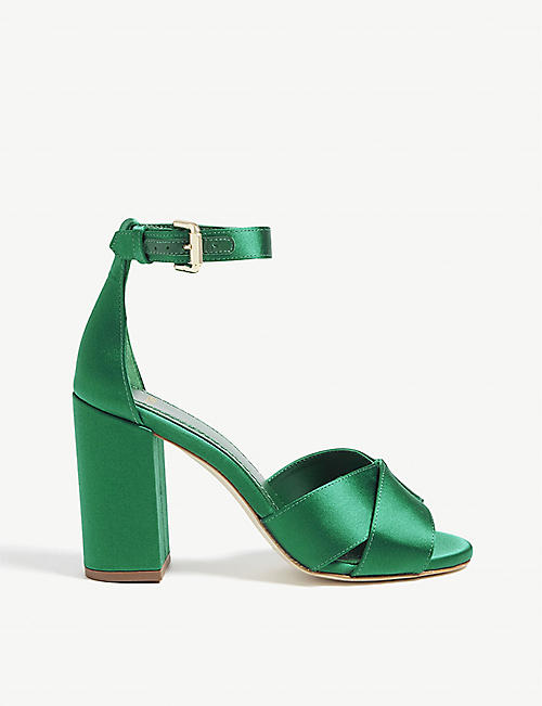 MAJE Forigama satin heeled sandals