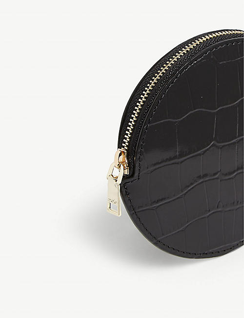 MAJE Circle leather belt bag