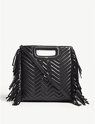 MAJE: M quilted leather shoulder bag