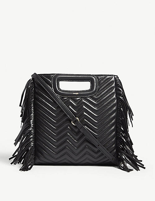 MAJE M quilted leather shoulder bag
