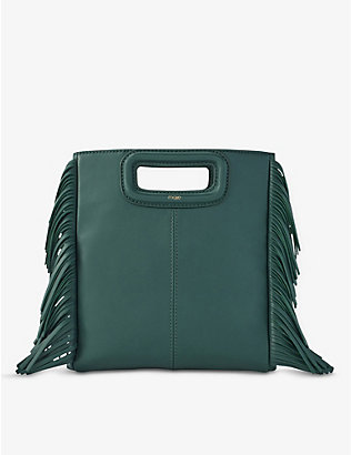 MAJE: M leather shoulder bag