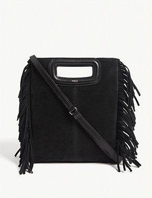 MAJE M suede shoulder bag