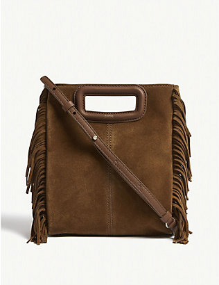 MAJE: M suede shoulder bag