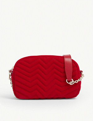 MAJE Quilted leather cross-body bag
