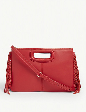 MAJE M Duo suede cross-body bag