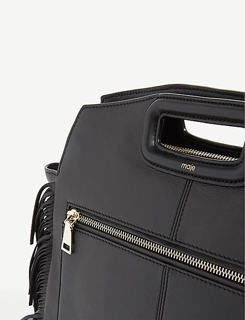 MAJE M leather shoulder bag