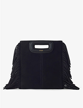 MAJE: Mini M suede bag