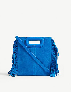 MAJE Mini M suede bag