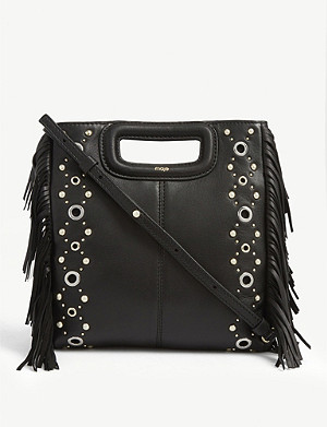 MAJE Sacha leather shoulder bag