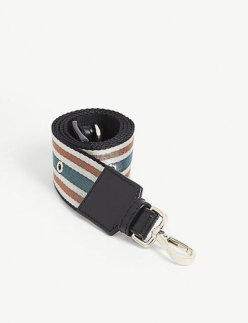 MAJE Canvas striped bag strap