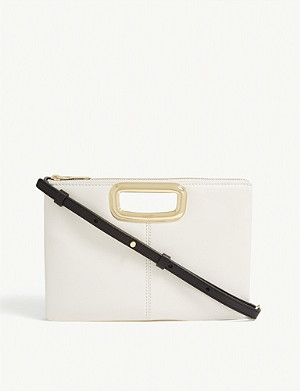 MAJE Duet leather cross-body bag
