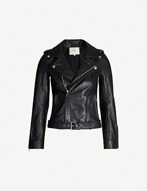 MAJE Bocelix epaulettes leather jacket