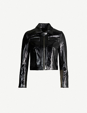 MAJE Baptiste patent-leather jacket