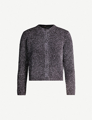 MAJE Metallic knitted cardigan