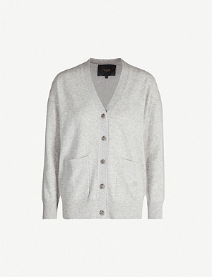 MAJE Maxence button-through cashmere cardigan