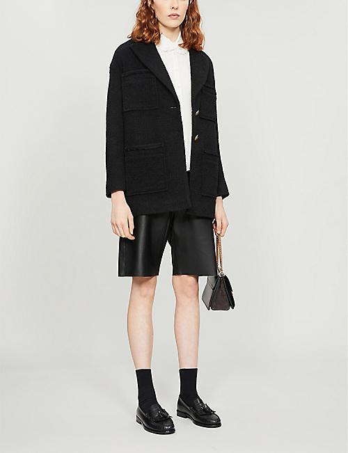 MAJE Coline crepe blouse