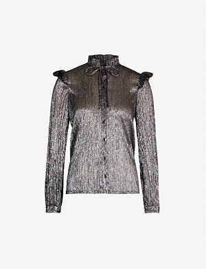 MAJE Clunny metallic shirt