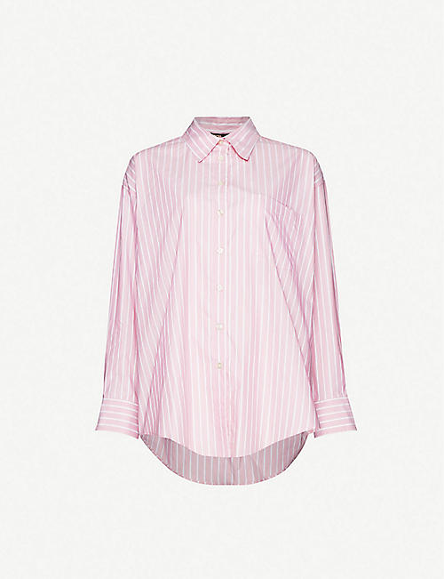 MAJE Cherry cotton-poplin shirt