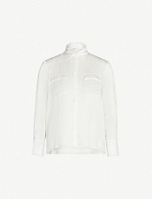 MAJE Collared silk shirt