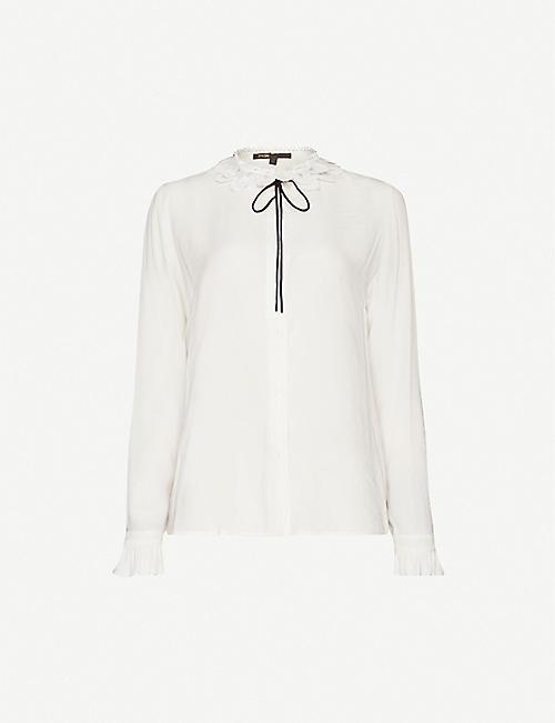 MAJE Cassidi crepe shirt
