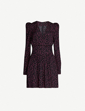 MAJE Iko polka-dot crepe mini dress