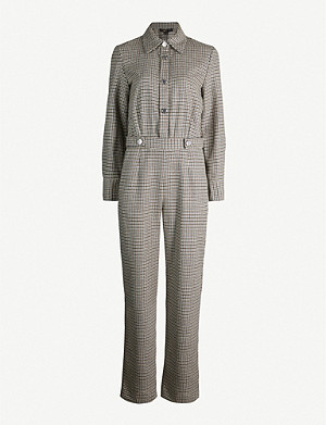 MAJE Houndstooth-print woven jumpsuit