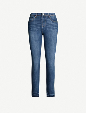 MAJE Presto high-rise cropped straight-leg jeans