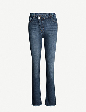 MAJE Plume straight leg high-rise stretch denim jeans