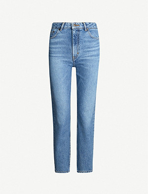 MAJE Pario straight high-rise jeans