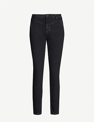 MAJE Poesie slim-fit high-rise jeans