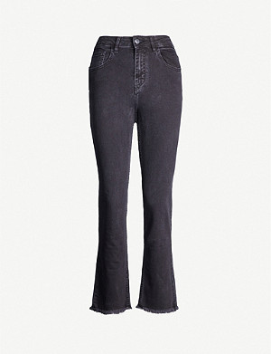 MAJE Pacha high-rise flared jeans