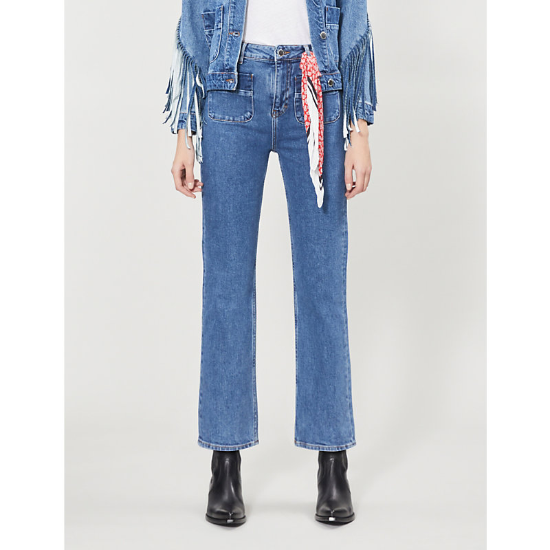 Maje Jeans PLAISIR STRAIGHT CROPPED HIGH-RISE JEANS