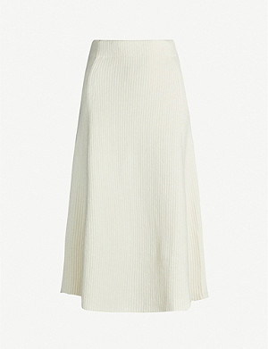 MAJE Jessy ribbed stretch-knit midi skirt