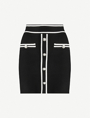 MAJE Jeroma embellished wool-blend mini-skirt