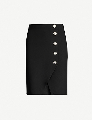 MAJE Jipy asymmetric stretch-jersey mini skirt
