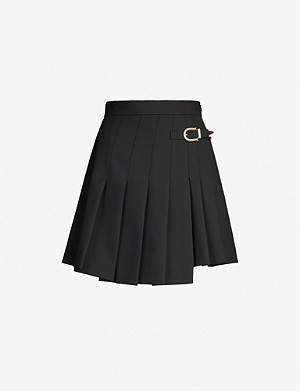MAJE Pleated gabardine skirt